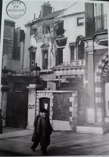 Photo:Damage to Naval and Military Club, November 1940