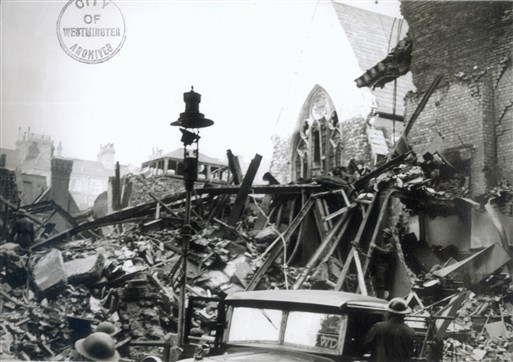 Photo:Bomb damage around St Ann's Lane SW1, 11 November 1940