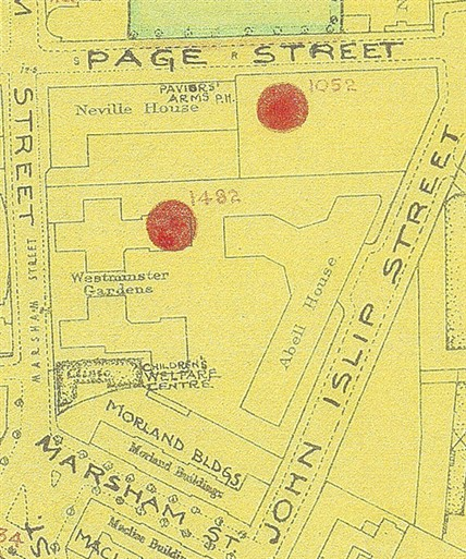 Photo:Westminster Gardens: Bomb Map