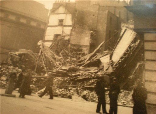 Photo:24 Greek Street damage, October 1940