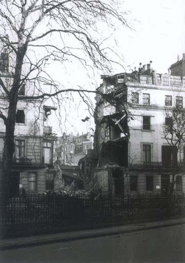 Photo:3 & 4 Chesham Place. 8 November 1940