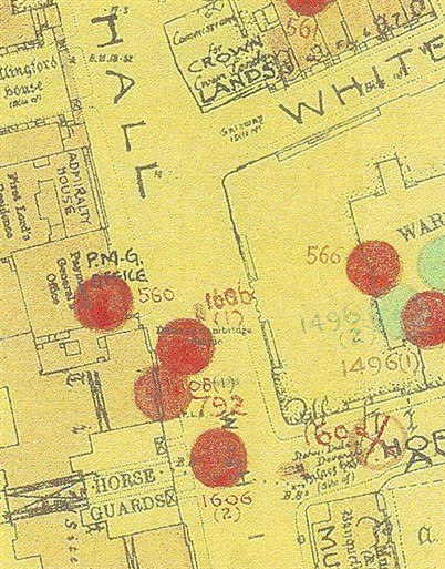 Photo:Bomb Map, Whitehall