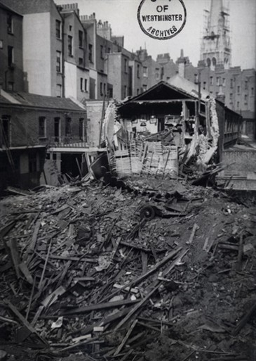 Photo:Damage to Oranmore Mews, May 1941