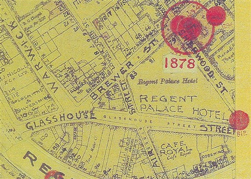 Photo:Bomb Map: Regent Palace Hotel and its Annexe