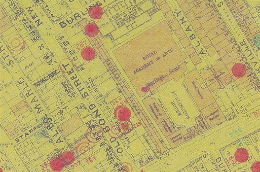 Photo:Bomb Map, Burlington Arcade