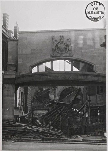 Photo:Burlington Arcade, Burlington Garden End, 1940