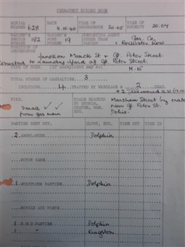 Photo:Laundry Yard ARP Report, 11 October 1940