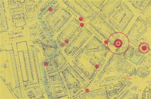 Photo:Bomb Map: South Embankment of the District Line Tube