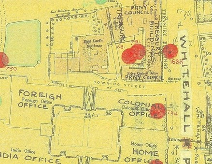 Photo:Bomb Map: Downing Street