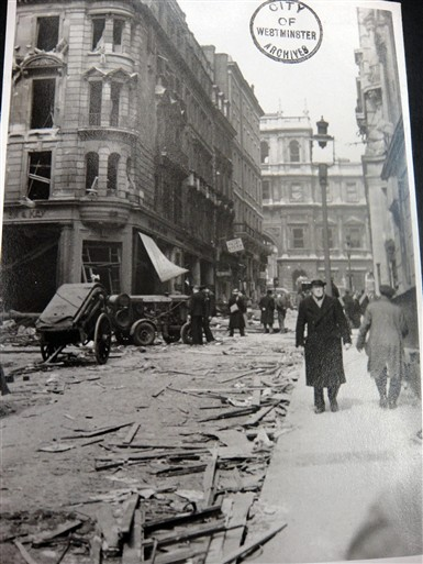 Photo:Duke Street St James's looking towards Piccadilly, 1941