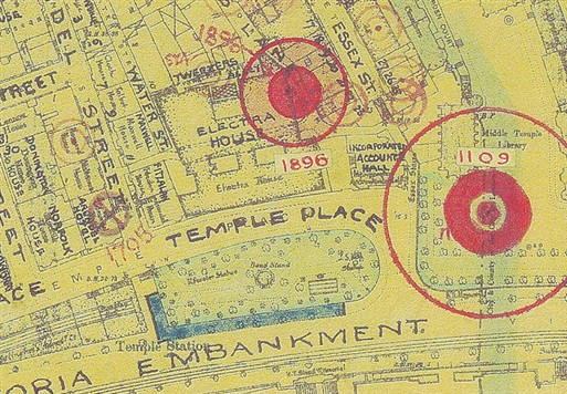 Photo:Bomb Map: Electra House, Temple Place