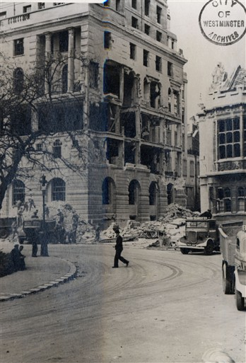 Photo:Electra House, Temple Place, July 1944