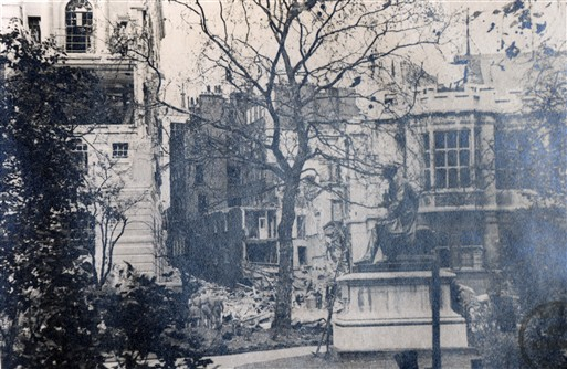 Photo:Electra House & Accountants' Hall, Temple Place, July 1944