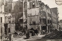 Photo:Carey Mansions, Rutherford Street after V1 strike, June 1944