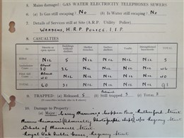 Photo:ARP Report, Rutherford Street, 18 June 1944
