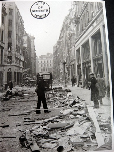 Photo:Jermyn Street looking towards St. James's Street, 1941