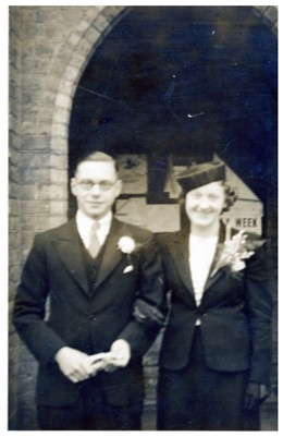 Photo:Pte john Hibbett on his wedding day March 1940