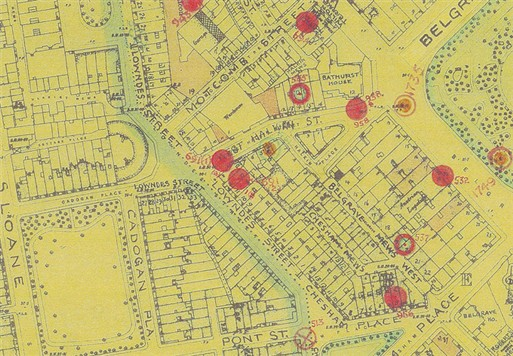 Photo:Bomb Map: 12 Lowndes Street