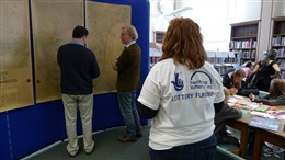 Photo:Studying the Bomb Map and working on the animation at Westminster Reference Library during West End Live