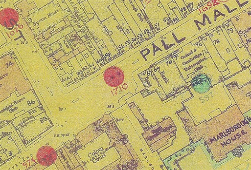 Photo:Bomb Map: Pall Mall SW1