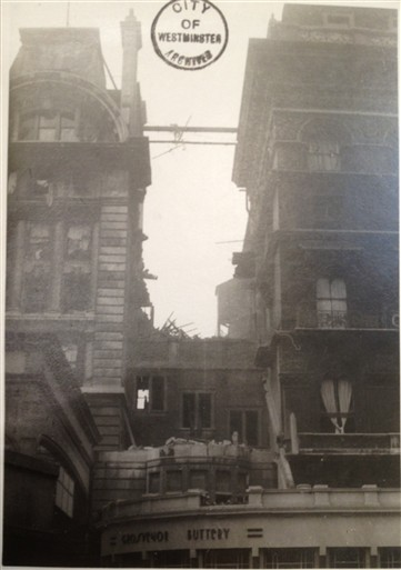 Photo:Damage to Grosvenor Hotel, 9 October 1940