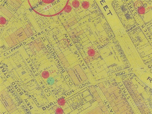 Photo:Bomb Map: Savile Row W1