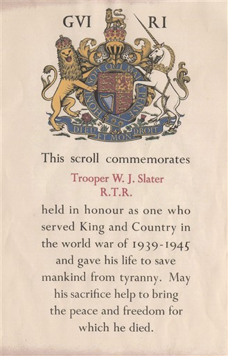 Photo:Commemorative scroll