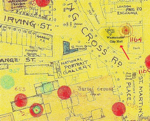Photo:Bomb Map: Westminster City Hall