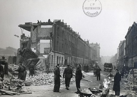 Photo:Damage near Ebury Bridge, December 1940