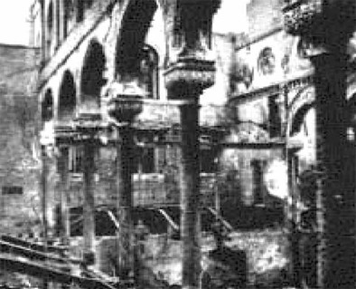 Photo:Incendiary Bomb Damage to the Central Synagogue, 10-11 May 1941