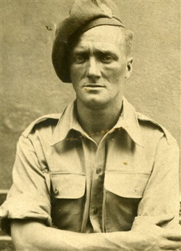 Photo:Pte Joe Seaby Royal Fusilers Egypt 1943.  Joe did not smile as the army removed all of his teeth.