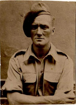 Photo:Unsmiling Joe Seaby had all of his teeth removed by the army in 1940