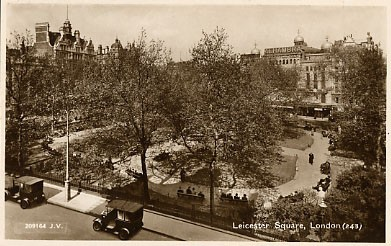 Photo:Leicester Square in the years immediately before the Blitz