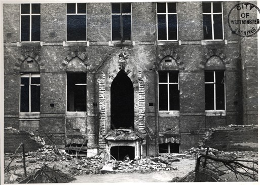 Photo:Damage to Westminster City School, November 1940