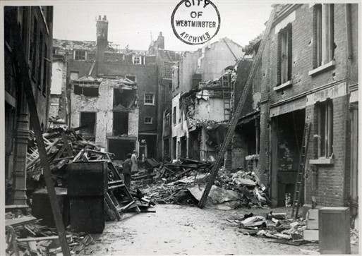 Photo:Damage to Shepherd Market, Mayfair, November 1940