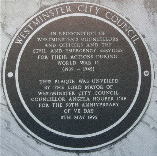 Photo:City of Westminster commemorative plaque
