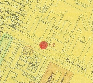 Photo:Bomb Map: Queen Alexandra's Military Hospital