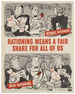 Photo:Rationaing introduced the concept of fair shares for all