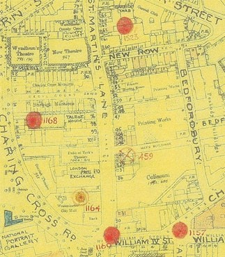 Photo:Bomb Map: St Martin's Lane (CLE incident at top of page)